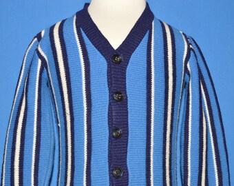 7aef4e59b546 70s striped cardigan