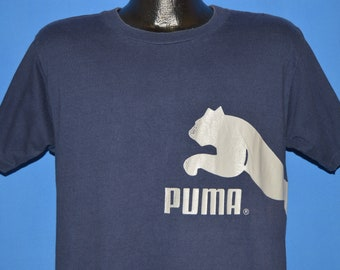 4d257a69 90s Puma Sneakers Official Logo t-shirt Large