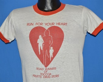 41c971dc 80s Run For Your Heart Toccoa Georgia t-shirt Small