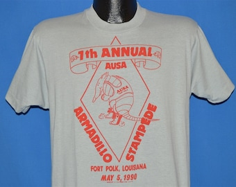a13f6aec 90s Armadillo Stampede 7th Annual AUSA Marathon t-shirt Large