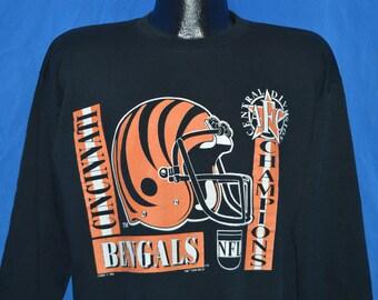 90s Cincinnati Bengals AFC Central Champs Sweatshirt Large 430b4dca9