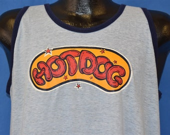 27896f78a 80s Starry Hot Dog Iron On t-shirt Large