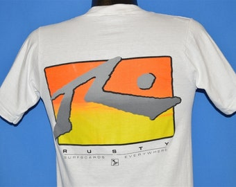 274fb925 90s Rusty Surfboards Everywhere Neon t-shirt Small