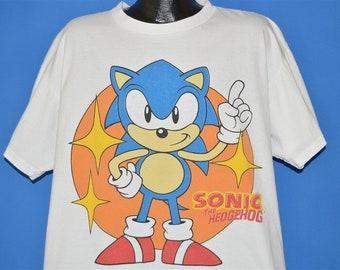 ce54a12e60e0 90s Sonic The Hedgehog 1991 t-shirt Extra Large