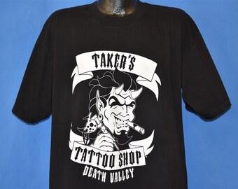 df30cc6e2a0 90s Undertaker Taker s Tattoo Shop t-shirt Extra Large