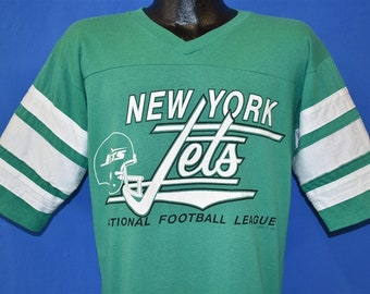 3a755ad18d3 80s New York Jets Logo 7 Jersey Style t-shirt Larg