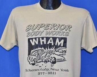 8e39e99e9 80s Superior Body Works You Bend Em We Mend Em t-shirt Medium