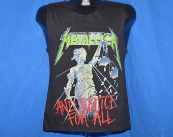 b521a47c 80s Metallica And Justice For All 89 Tour Tank Top t-shirt Small