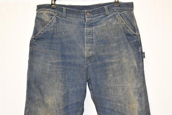 40s Railroad Carpenter Jeans Work Pants Size 40 - image 3