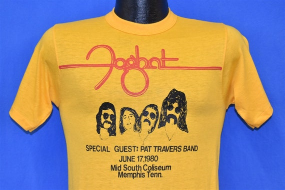 80s Foghat & Pat Travers Band 1980 t-shirt Small - image 1