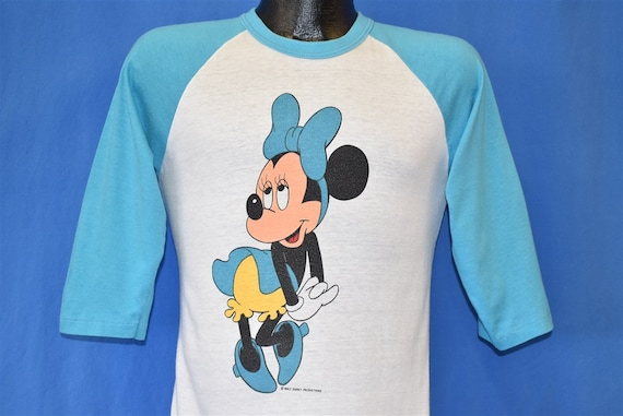 80s Minnie Mouse Baby Blue Jersey t-shirt Small