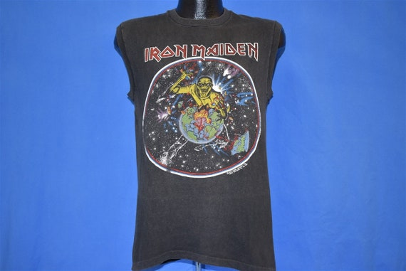 80s Iron Maiden World Piece Tour '83 Beast on Run… - image 2