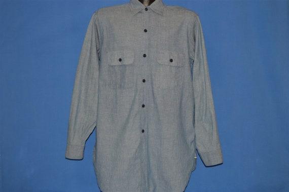 40s Chambray Denim Selvage Work Shirt Medium - image 2