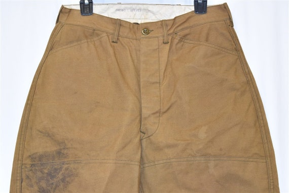 40s Blue Bill Duck Hunting Pants Size 32 - image 3