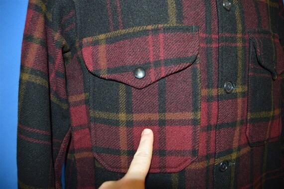 40s Pendleton Plaid Winter Wool Jacket Medium - image 4