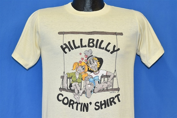 80s Hillbilly Cortin Shirt Swing Funny t-shirt Sma