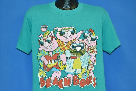 80s Da Beach Boars Funny Spoof t-shirt Large