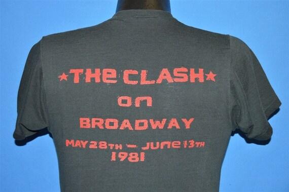 80s The Clash On Broadway 1981 t-shirt Medium - image 3