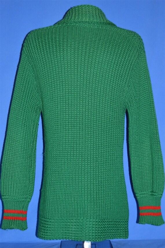 30s Shawl Collar Standard Knitting Mills Wool Car… - image 6