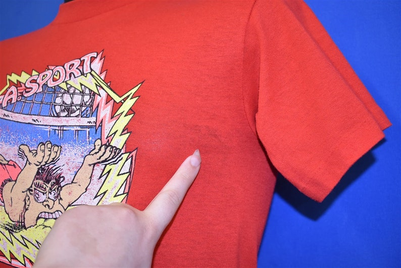 80s Volleyball Dive Funny Cartoon t-shirt Small