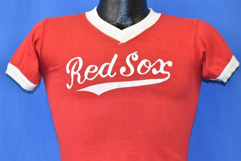 70s Red Sox Little League Baseball Ringer t-shirt Extra Small