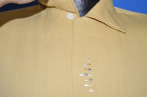 50s Sears Rockabilly Loop Collar Shirt Medium - image 3
