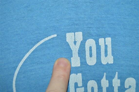 70s Bob Hope Face Blue Bar Champion Vintage t shirt Large