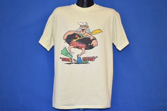 80s Where's the Water!? Funny Tubing t-shirt Large - image 2
