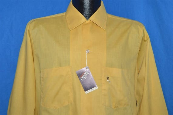 60s Arrow Yellow Loop Collar Deadstock Shirt Mediu