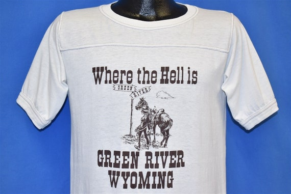 70s Where the Hell is Green River Wyoming Cowboy J