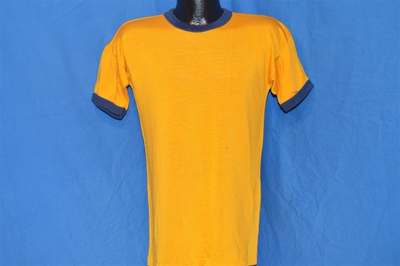 50s Southern Athletic Gold Blue Rayon Jersey t-sh… - image 3