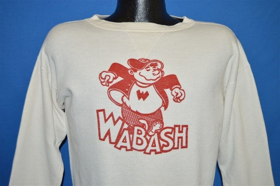 40s Wally Wabash College Don Cole Sweatshirt Mediu