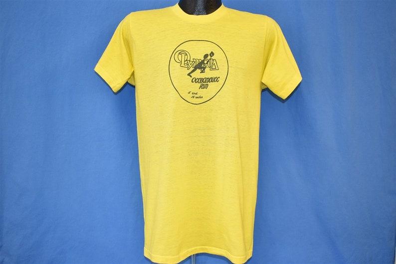 80s Olympia Oconomowoc Wisconsin Run 5 15 Miles Race t-shirt Medium