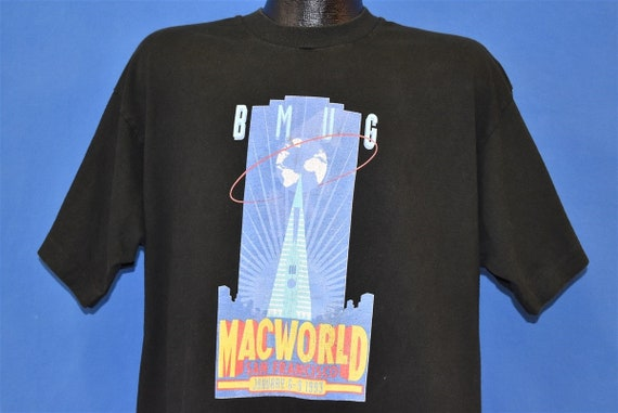 90s BMUG Mac World Global Apple Expo t-shirt Extra