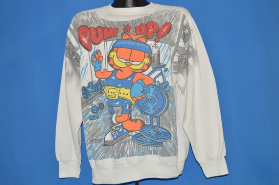 90 s Garfield Pump It It Pump Up commencer demain Sweat Extra Large bed47d