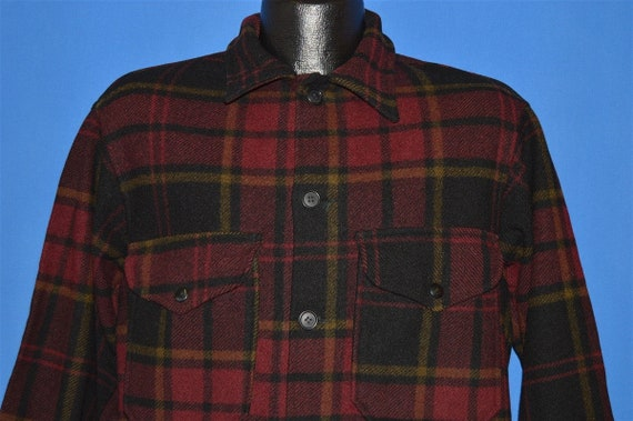 40s Pendleton Plaid Winter Wool Jacket Medium
