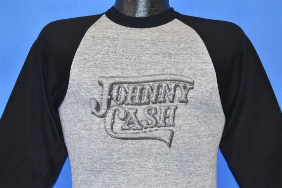 80s Johnny Cash Raglan Jersey Rayon Tri Blend Soft