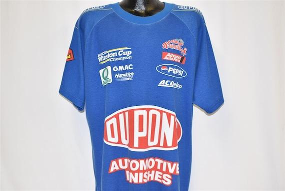 90s Jeff Gordon Dupont Superman NASCAR Champ t-shi