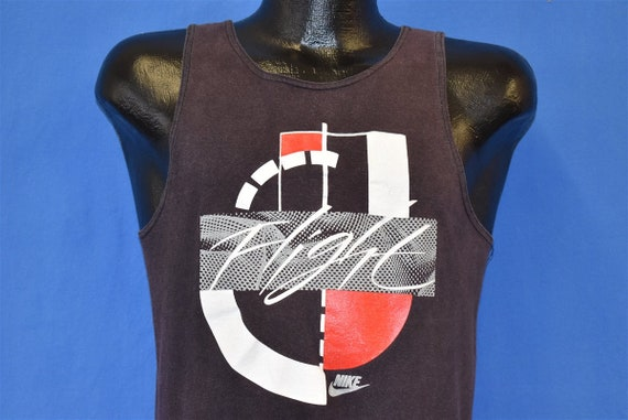 90s Nike Flight Tank Top Faded Black t-shirt Youth