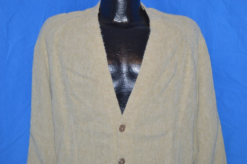 50s JC Penneys Sports Outerwear Baggy Cardigan Sweater Large  df46bcbe3
