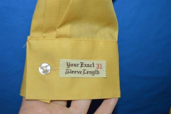 60s Arrow Yellow Loop Collar Deadstock Shirt Medi… - image 4
