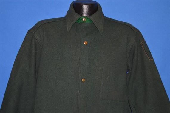 40s Woolrich Dark Wool Hunting Jacket shirt Large