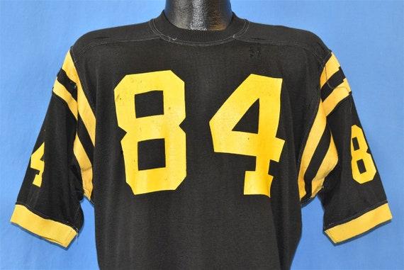 70s Black Yellow Striped #84 Football Jersey Distr