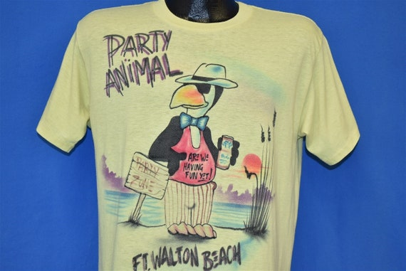80s Party Animal Fort Walton Beach Airbrush t-shir