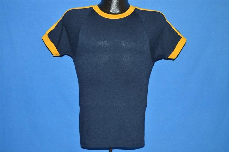 5944e7957 70s Champion Blue Bar Yellow Striped t-shirt Small | Etsy