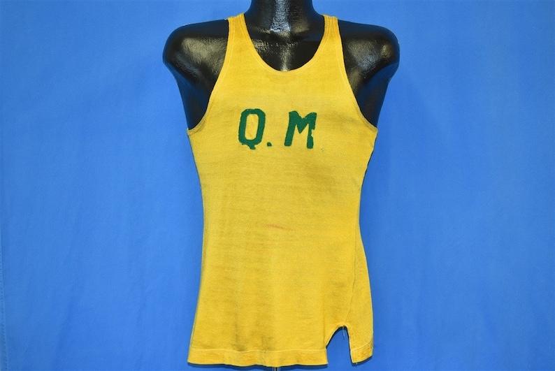 Quartermaster Basketball Gold Jersey t-shirt Small 50s Q.M