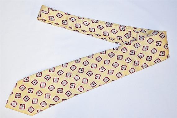 80s Polo Ralph Lauren Yellow Geometric Motif Neck… - image 2