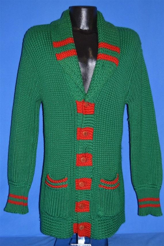 30s Shawl Collar Standard Knitting Mills Wool Car… - image 2