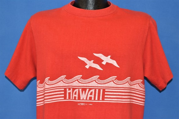 70s Hawaii Ocean Waves Wrap Around t-shirt Large