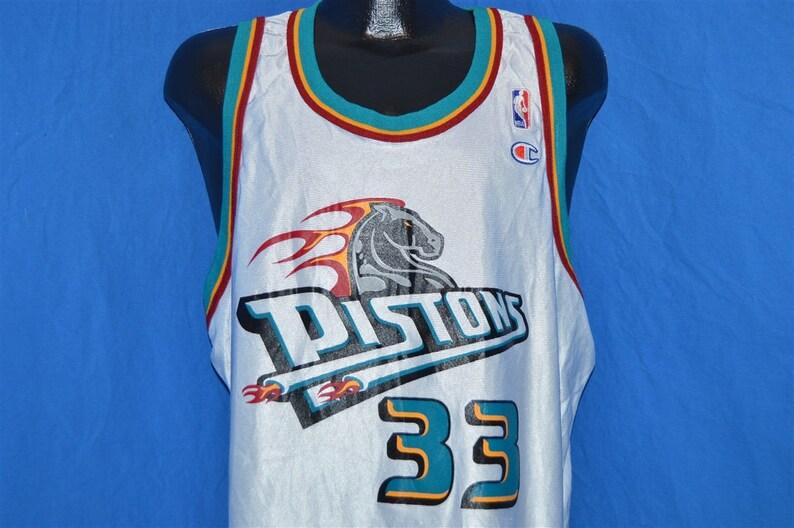 best service 569c4 ba69e 90s Detroit Pistons Grant Hill Jersey t-shirt XXL